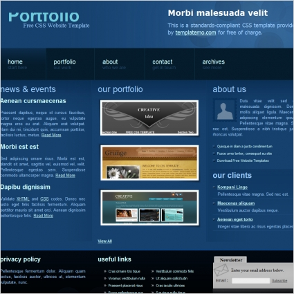Website templates portfolio