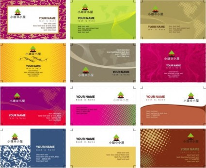 Vector misc variety of business card templates vector